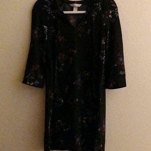 H&M Black Floral Shift Dress